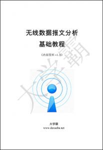 无线数据报文分析基础教程大学霸内部资料